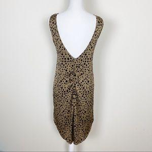 Tucker Dresses - Tucker brown and black polkadot satin dress